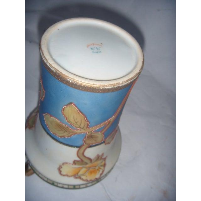 Powder Blue & Peach Nippon Vases - A Pair - Image 9 of 9