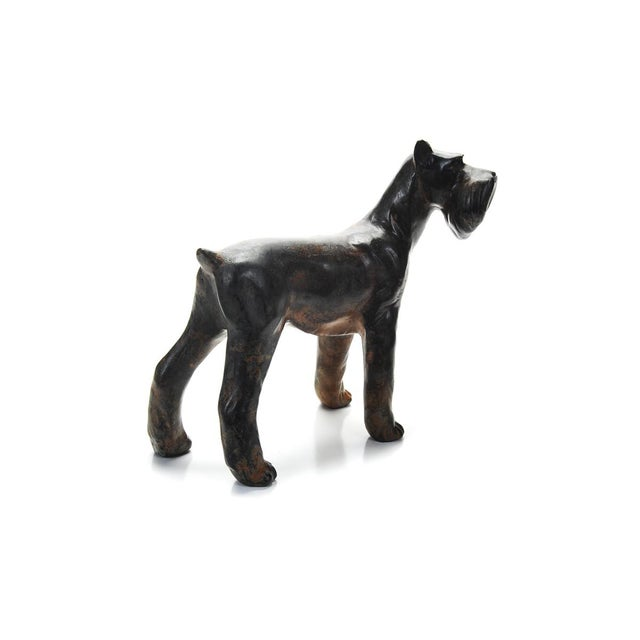 Image of 1920s Bronze Scottie Dog Sculpture