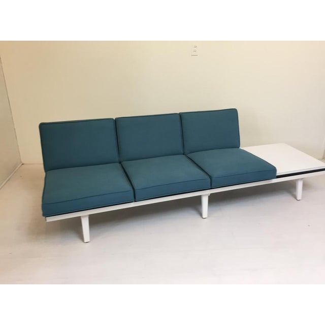 George nelson modular sofa with attached table chairish for Sectional sofa with table attached