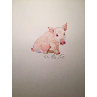 Pink Piggy Watercolor