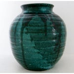 Image of Teal Drip Ceramic Vase