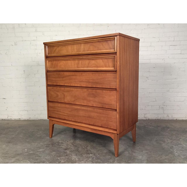 Dixie Mid-Century Modern 5-Drawer Chest Of Drawers / Dresser - Image 2 of 8