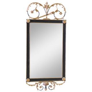 Regency-Style Ebonized & Gilt Carved Mirror