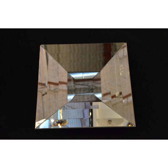 Italian Beveled Op Art Mirror - Image 6 of 11