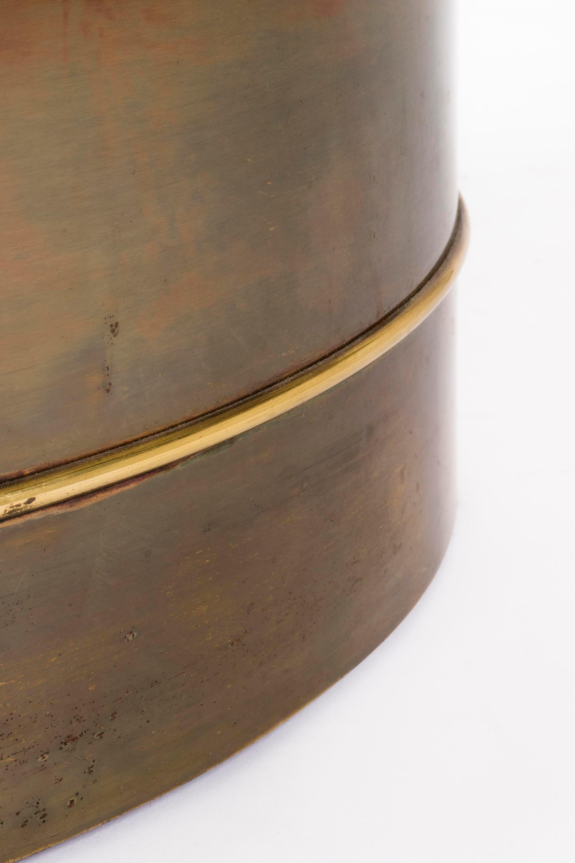 Mastercraft Brass Drum Table   Image 5 Of 7