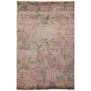"""Eclectic, Hand Knotted Area Rug - 4' 0"""" x 6' 0"""""""