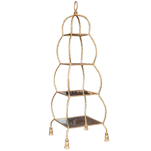 Image of Four-Tiered Gold Etagere