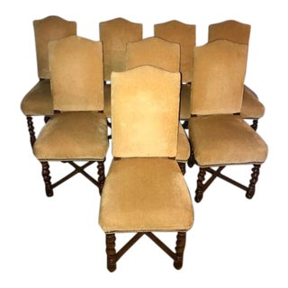 French Vintage Dining Chairs - Set of 8
