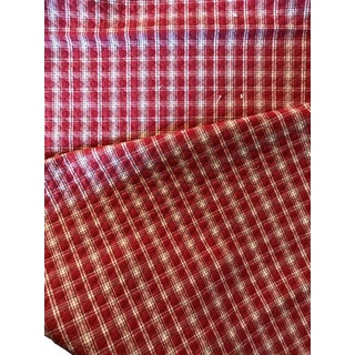 Greeff Red & White Quilted Check Fabric -2 Yards