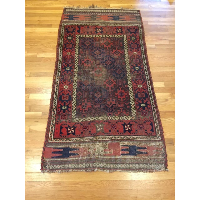 "Vintage Tribal Persian Rug - 3' x 5'10"" - Image 2 of 7"
