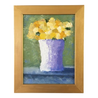Yellow Roses Still Life Oil Painting