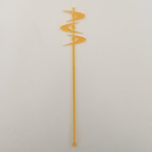 Tangerine Midcentury Boomerang Drink Stirrers - Image 2 of 5