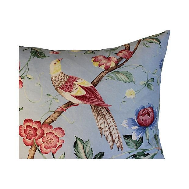 Scalamandre Floral & Bird Chinoiserie Pillows - a Pair - Image 5 of 6