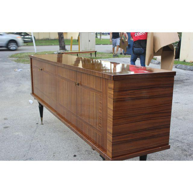 1940s Vintage French Art Deco Macassar Ebony Sideboard or Buffet/Bar - Image 2 of 10