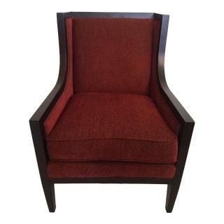 Burgundy Chair with Espresso Frame