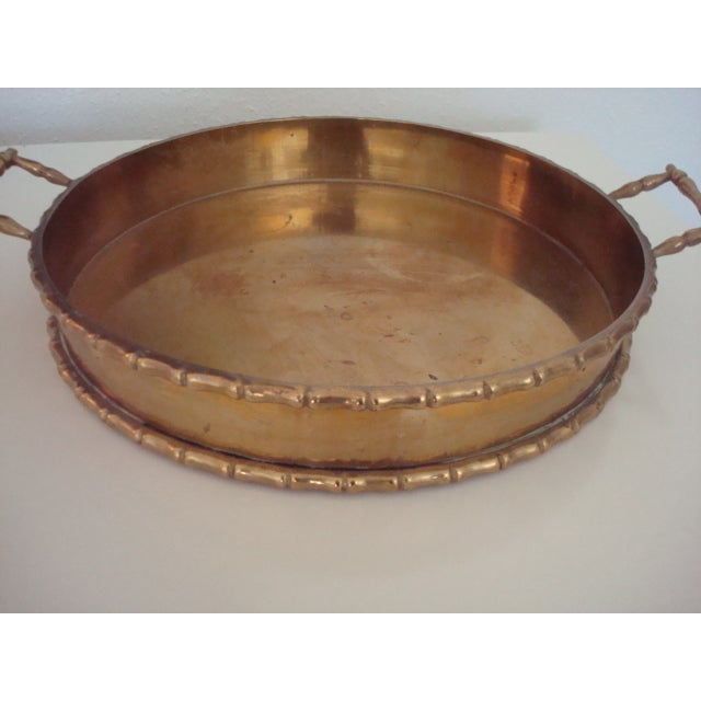 Round Faux Bamboo Tray - Image 4 of 6