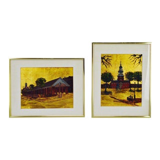 R. Smyth Philadelphia Landmark Oil Paintings - A Pair
