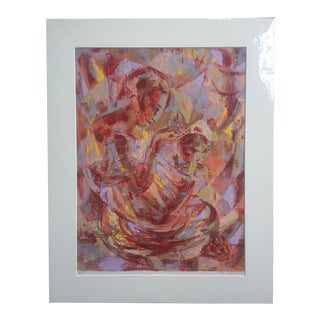 """Goldman's """"Mother and Child"""" Signed Print"""