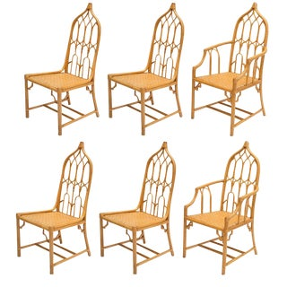 McGuire Bamboo Dining Chairs - Set of 6
