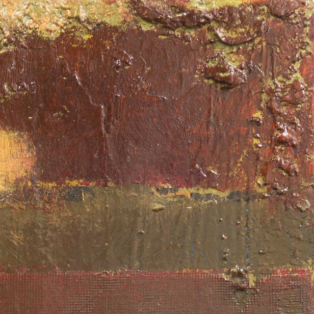 Textural Abstract Oil Painting - Image 4 of 7