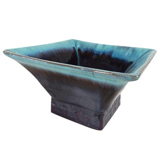 Square Glazed Pottery Serving Dish