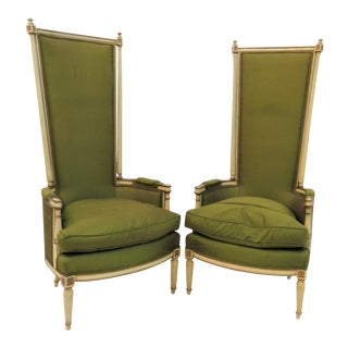 French Style Bergere Chairs - A Pair