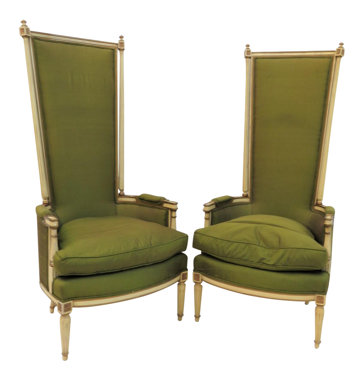 French Style Bergere Chairs   A Pair