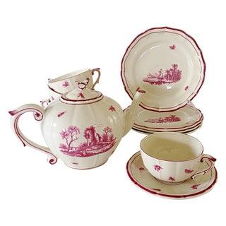 Gien 19th Century French Tea Set