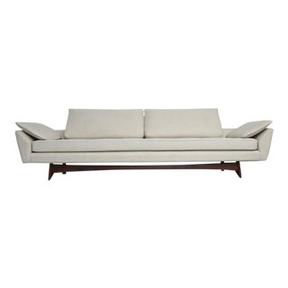 Adrian Pearsall Sofa on Sculptural Walnut Base