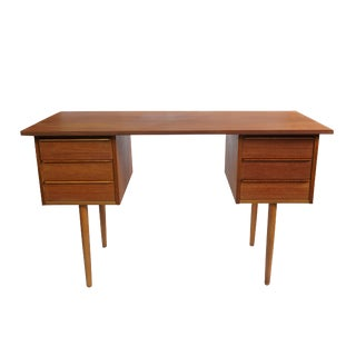 Danish Minimalist 6 Drawer Teak Desk