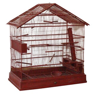 Large Wire & Wood Birdcage