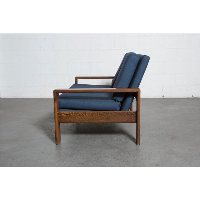 Wenge 70's Mod Love Seat - Image 4 of 8