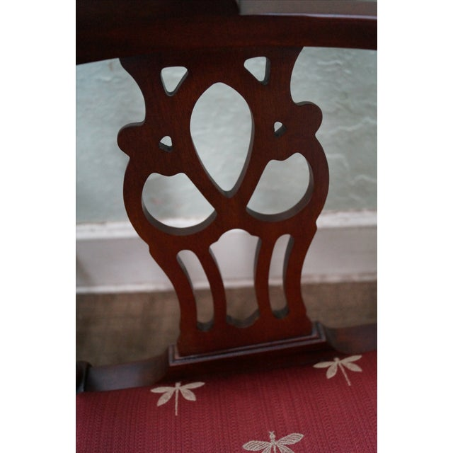 Quality Mahogany Chippendale Corner Arm Chair - Image 7 of 10