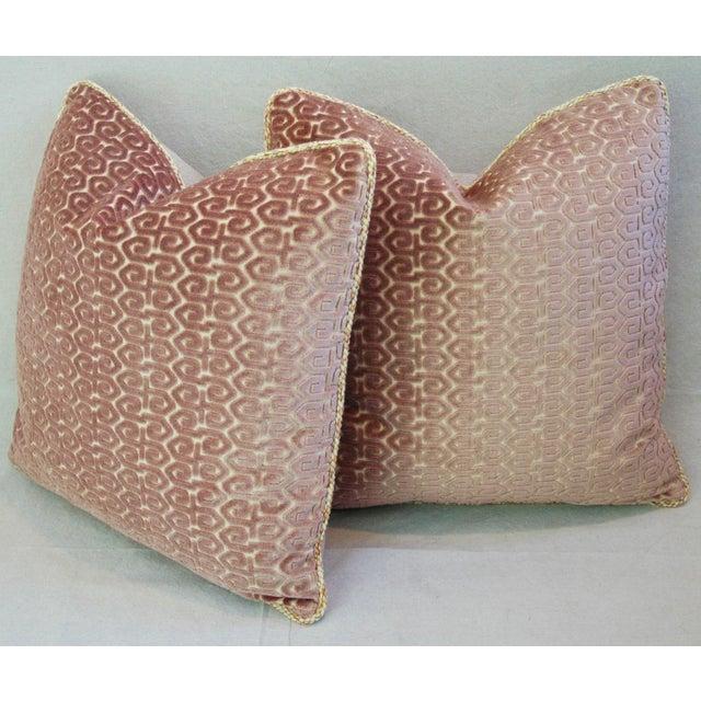 Designer Old World Weavers Velvet Pillows - A Pair - Image 10 of 11