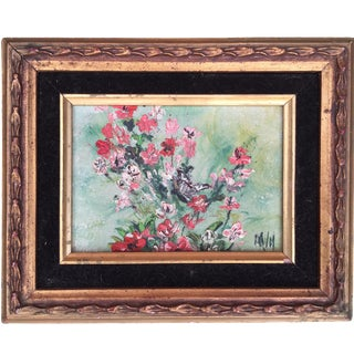 Impressionist Style Signed Oil on Canvas