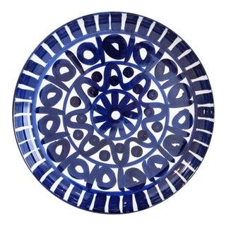 Dansk Mid Century Danish Modern Blue Ceramic Platter