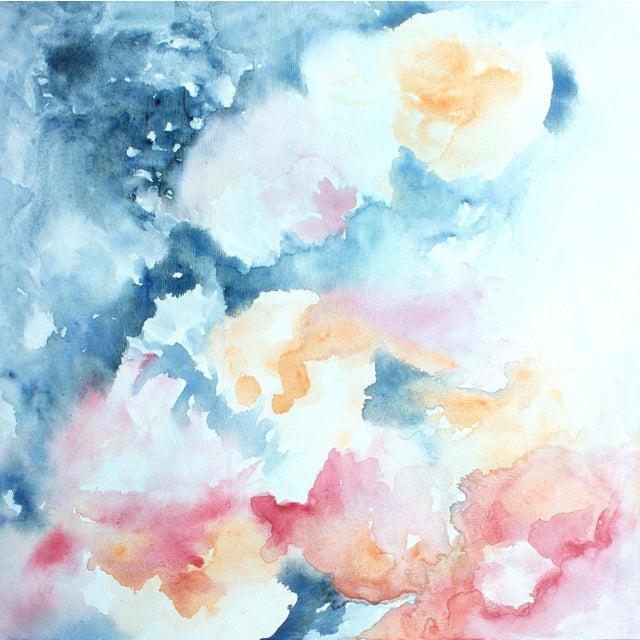 """Ellen Sherman """"Water Lilies"""" Original Painting - Image 1 of 5"""