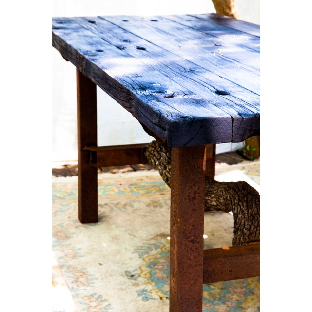 Wabi-Sabi Yakisugi Wood Dining Island Table Console - Image 3 of 11