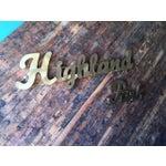 Image of Industrial Gold Highland Park Metal Sign