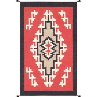 "Navajo Decorative Hand-Woven Rug- 3 X 5'1"""