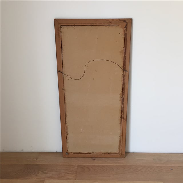 Image of Vintage Mid-Century Original Ink Abstract in Frame