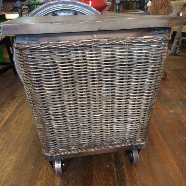 Wicker Moveable Bedside Table - Image 5 of 11