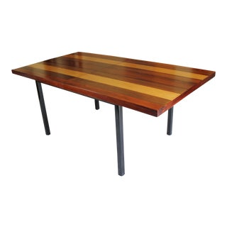 Mid Century Milo Baughman Teak, Rosewood Dining Table