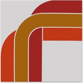 "Orange ""Right Angle"" 1970s Supergraphic"