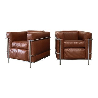 Cassina LC2 Lounge Chairs - A Pair