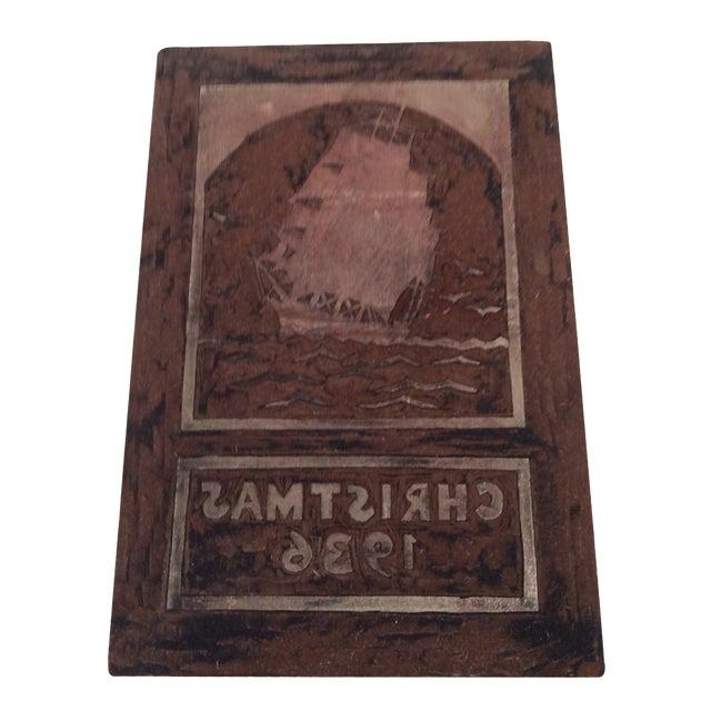 Maritime Printing Block Dated 1936 - Image 1 of 4