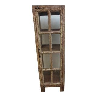 Antique Primitive Display Cabinet