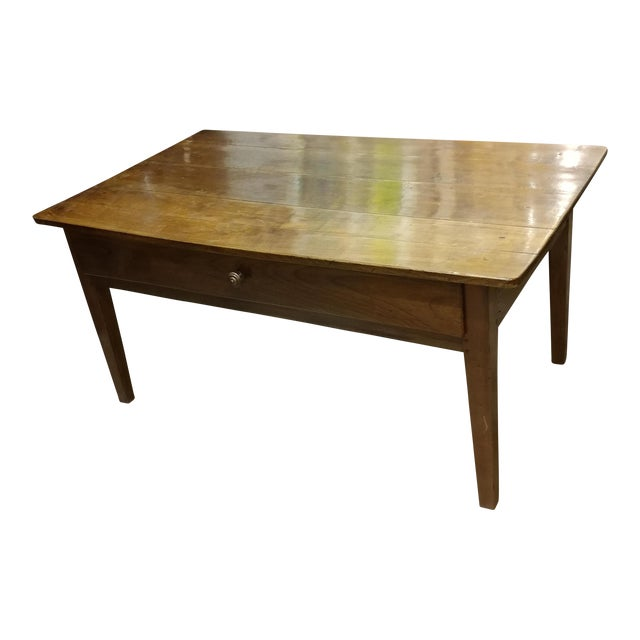 19th Century French Farm Walnut Coffee Table - Image 1 of 10