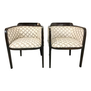 Mid-Century Modern Barrel Style Chairs - a Pair