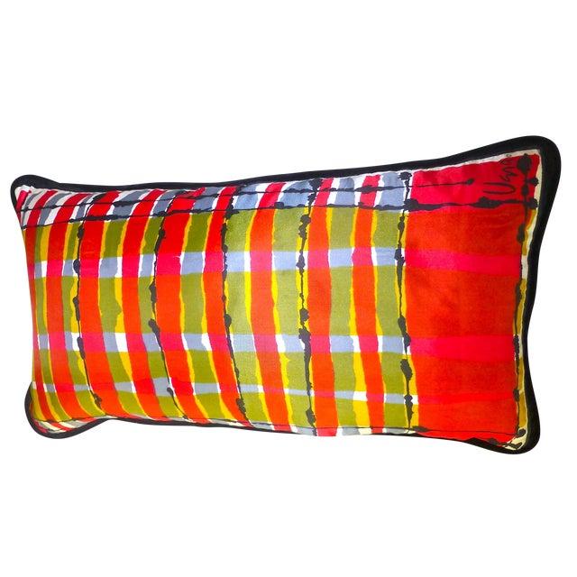 Custom Mid-Century Vera Neumann Scarf Pillow - Image 1 of 6
